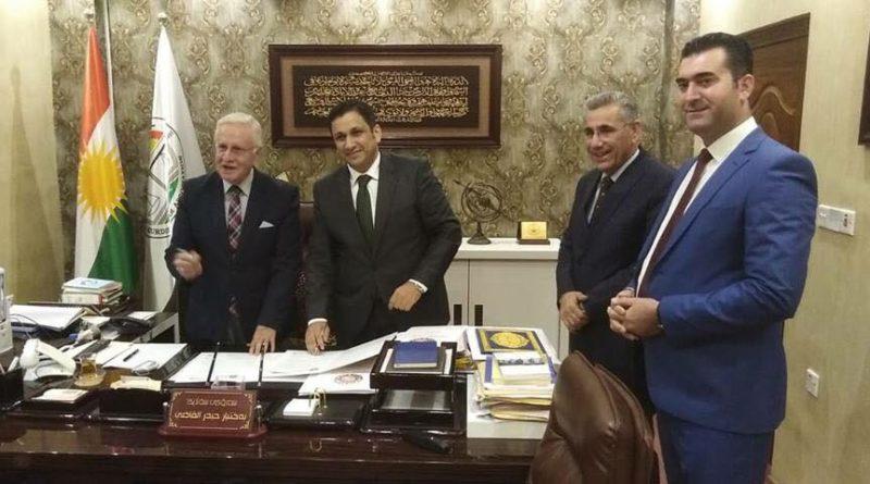 توقيع عقد مع نقابة محامي اقليم كوردستان