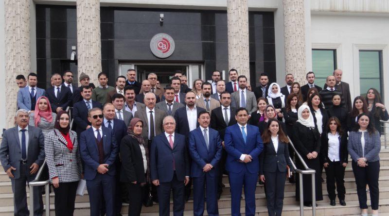 زيارة معالي محافظ البنك المركزي العراقي الدكتور علي العلاق الى مصرف جيهان للأستثمار والتمويل الاسلامي