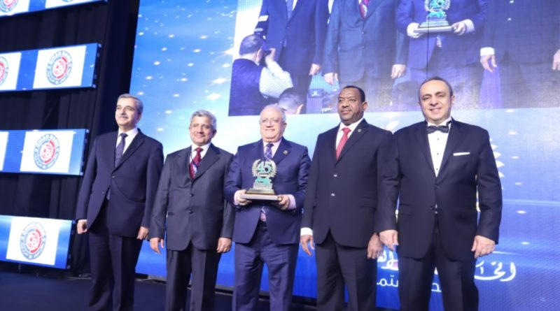 Honoring Chairman of the Board of Directors of Cihan Bank For Islamic Investment and Finance. Mr. Azad Yahia Saeed Bajger by the Union of Arab Banks.