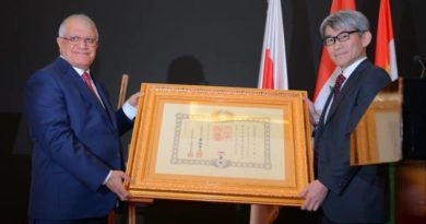 Mr Haji Azad Yahya Bajger, Chairman of Cihan Group, was rewarded with a medal by his highness Emperor of Japan
